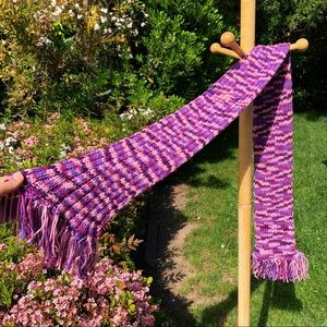 Brand new purple scarf I made💜